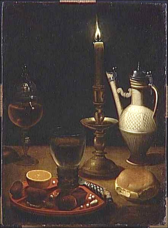 Gottfried Von Wedig, Nature morte à la chandelle