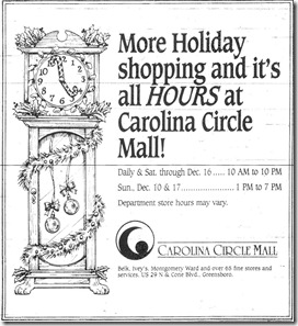 Christmas Ad December 7, 1989