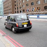 taxi cab in london in London, London City of, United Kingdom