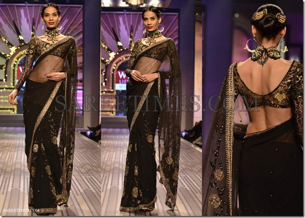 Ritu_Kumar_Black_Shimmer_Saree