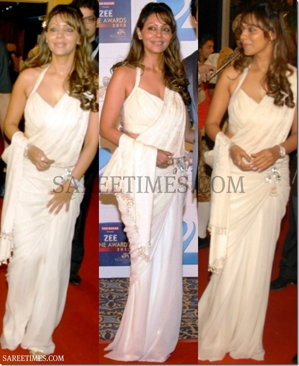 Gauri_Khan_White_Saree