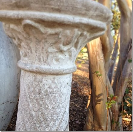 CEMENT PILLAR-old birdbath pedi