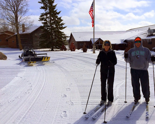 Beth and Dave Franklin out to enjoy the late March ski conditions.