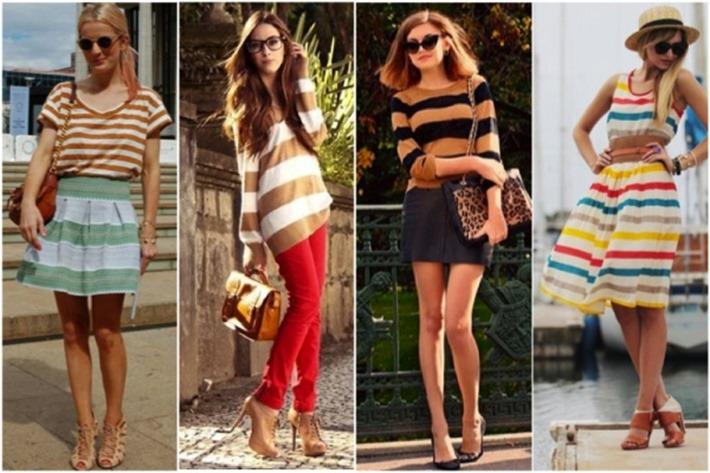 roupas listradas looks femininos