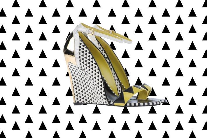 sergio rossi sapato estampa geometrica