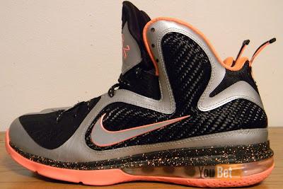 nike lebron 9 gr silver black orange 2 04 New Pics: Upcoming Nike LeBron 9 Mango Slated for March 2nd