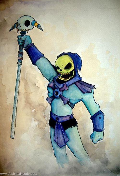 esqueleto desenhos arte uminga viloes desbaratinando