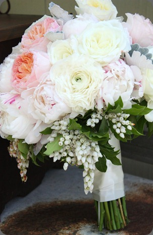 bridal bouquet blush floral