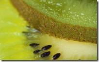 Slices of kiwi fruits