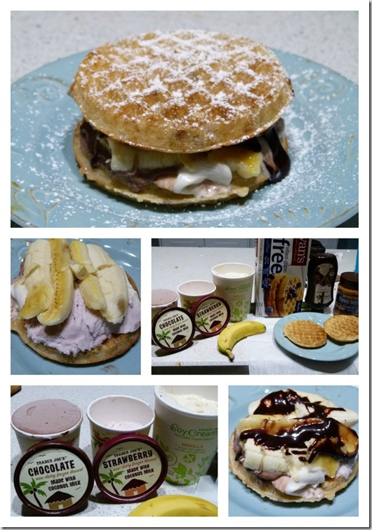 waffle ice cream collage