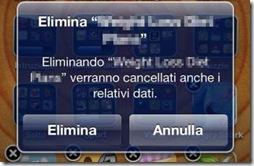 Eliminare applicazione iPhone