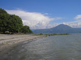 Pusuk Buhit as seen from a beach on Samosir island (Daniel Quinn, April 2011)