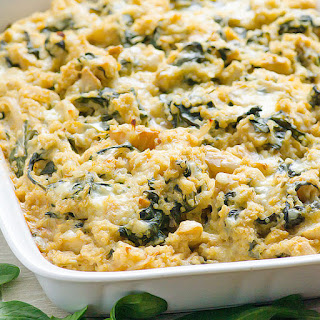 Clean Eating Spinach and Artichoke Quinoa Casserole