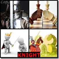 KNIGHT- 4 Pics 1 Word Answers 3 Letters
