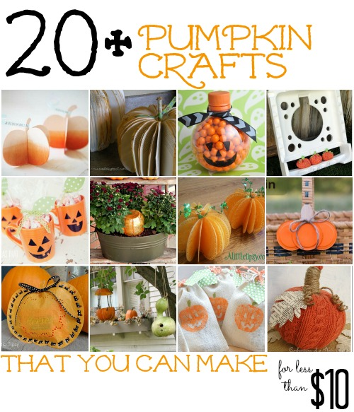 20  Pumpkin Themed Crafts