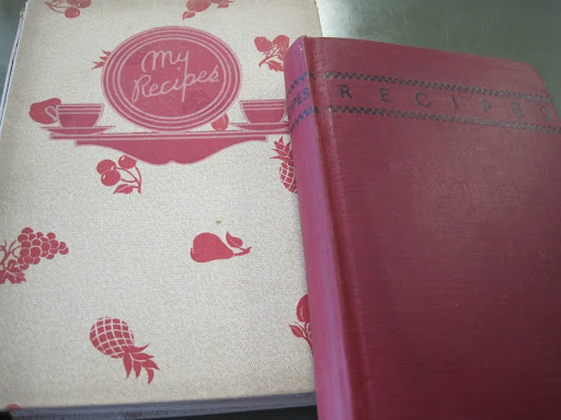 Some of the vintage cookbooks Bonnie brought in to share