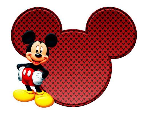 Imprimibles de la silueta de la cabeza de Mickey y Minnie. | Ideas ...