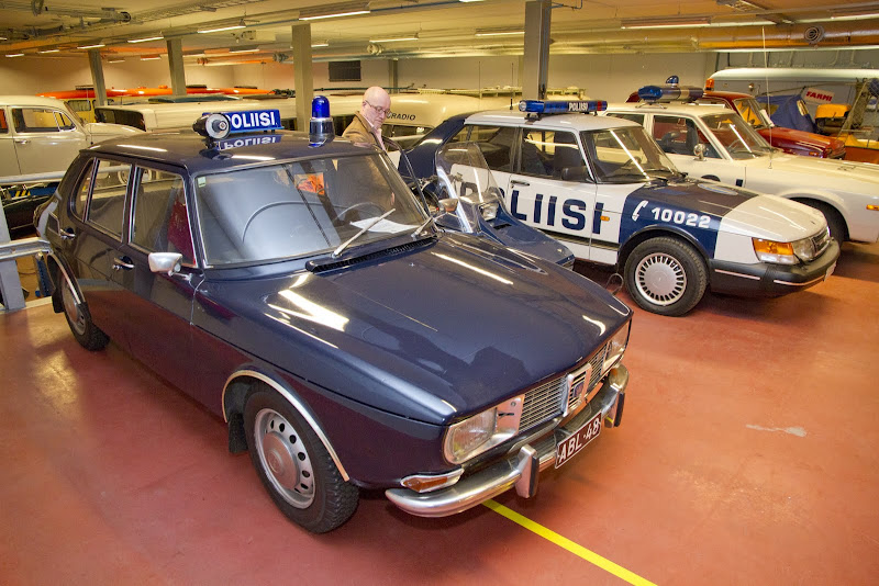 1968 Saab 99 and a Saab 900i 16v Police Car. Finland.