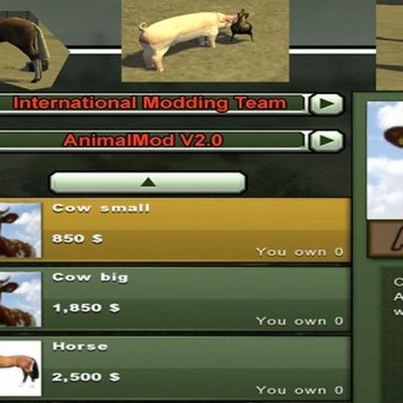 Farming simulator 2013 - Animal Mod V 2.0