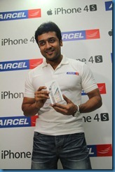 Suriya at Aircel Iphone 4S Launch