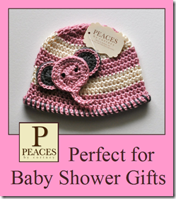 Peaces By Cortney: Handmade Crochet Hats &amp; Beanies {Perfect for Baby Shower Gifts}