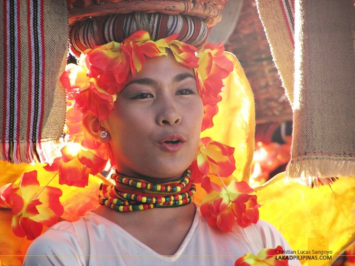 A Glowing Participant at Baguio's Panagbenga Festival