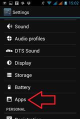 การลบ apps ที่ไม่จำเป็นใน tablet