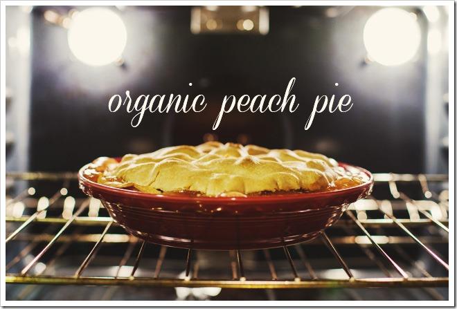 Organic Peach Pie