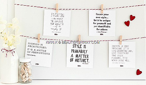 KIKKI.K PAPER DRESS ION ORCHARD Limited Edition Fashion Quote Cards hand drawn typography Coco Chanel, Vivienne Westwood Bill Blass Anna Wintour AUDI FASHION FESTIVAL FACE 2012 FIONA FUSSI