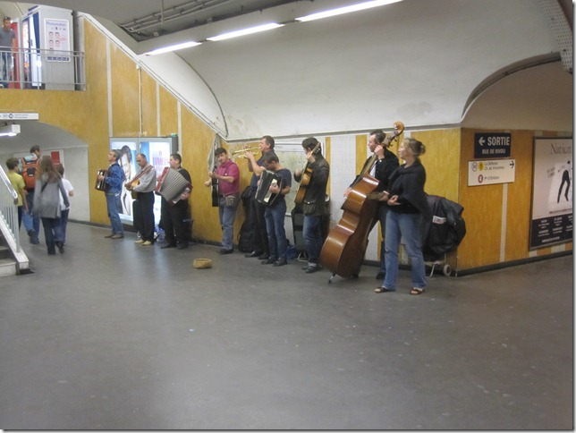 Band in the subway.  They were good.