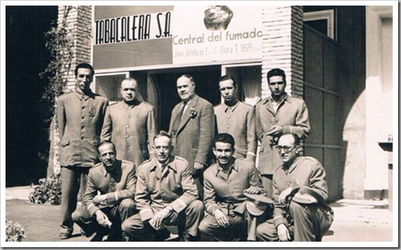 Empleados de Tabacalera, Valencia. Años 50