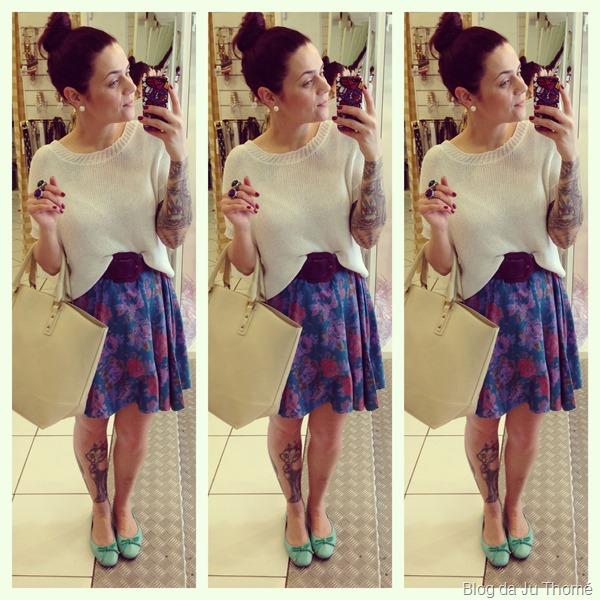 look saia floral estampada e tricot branco (1)