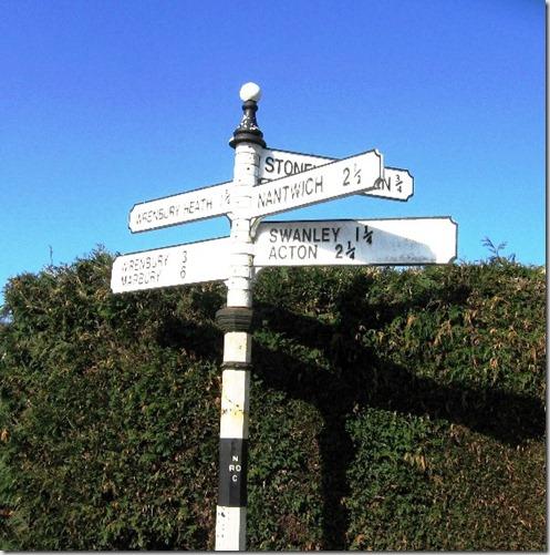 village street sign
