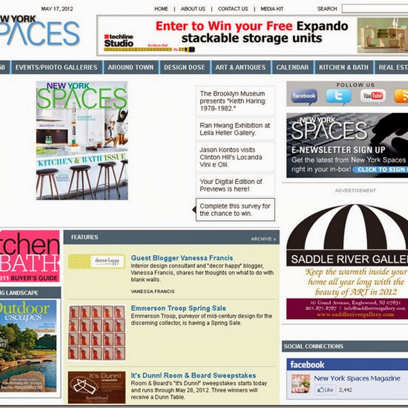 Guest Blogging at New York Spaces Magazine