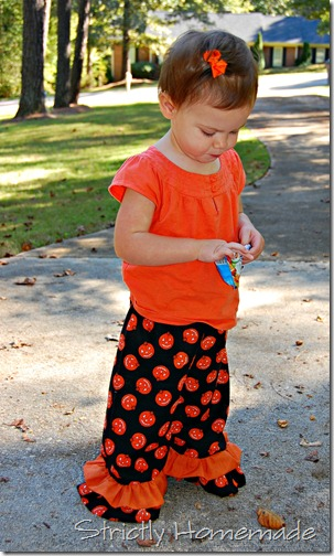 Ruffled Pumpkin Pants