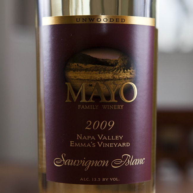 2009 Mayo Family Winery Emma's Vineyard Napa Valley Unwooded Sauvignon Blanc-1