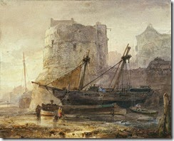 ships-in-a-french-harbour-at-low-tide