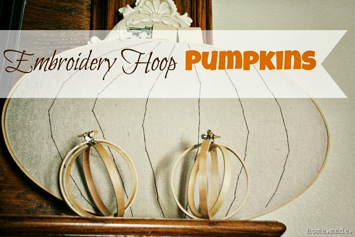 Embroidery Hoop Pumpkins