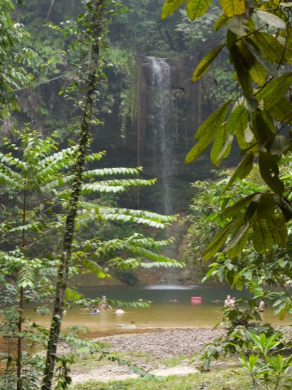 At the end of the shortest trail from the lodge (around 1.2 km, and a 20 min walk) is a waterfall and swimming pool