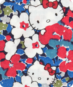 Blue Karenkubo Hello Kitty Print, Liberty Art Fabrics