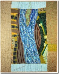 Sue Reno, In Dreams I Flew Over the River, art quilt