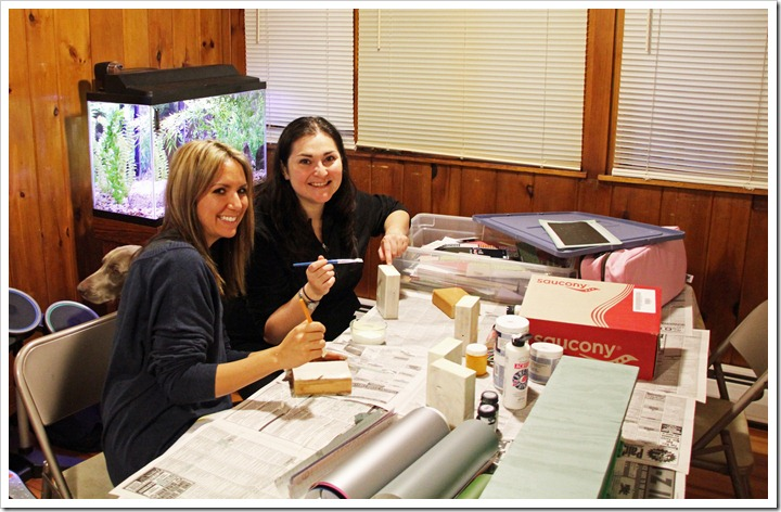 Lu & Liza Crafting Away