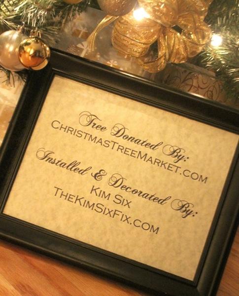 Donated christmas tree
