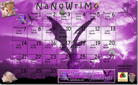 NaNoWriMo 2012 Calender