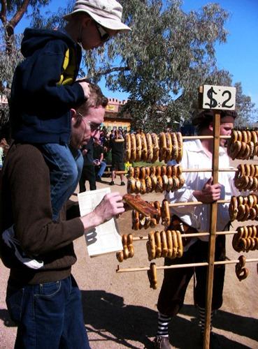 pretzel street vendor