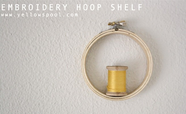 embroidery hoop shelf tutorial