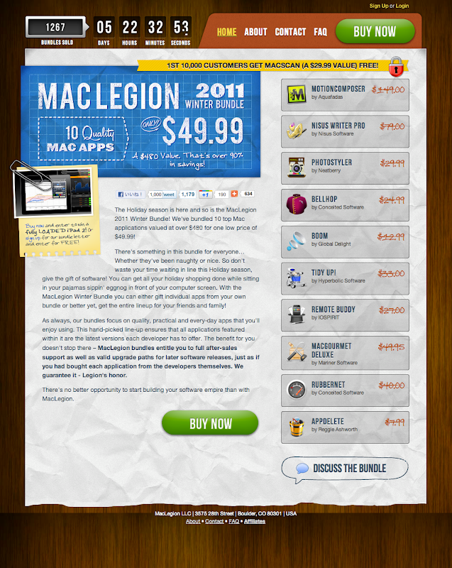 MacLegion Winter Bundle 2011 Home