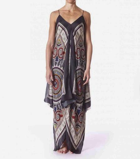 #429 Yolo sleeveless dress multi