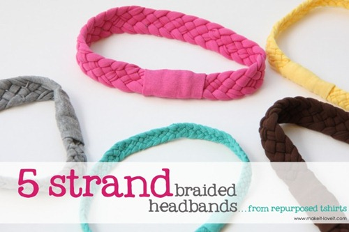 tshirt braided headbands by make it and love it