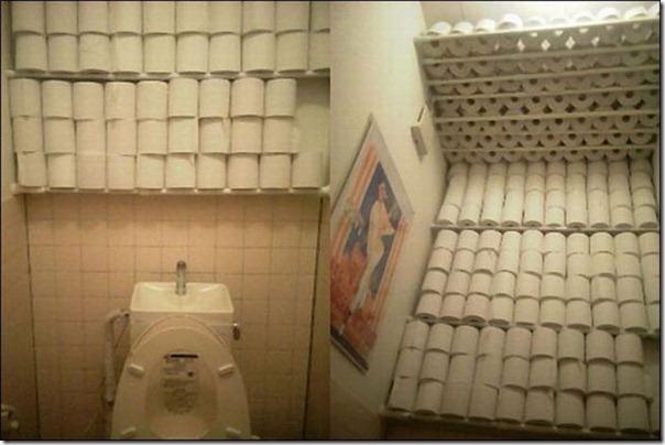 Não precisa comprar papel higienico nos proximos anos
